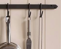 hawthorn wall mounted pan rack saucepan rack hooks hawthorn wrought iron