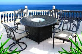 propane fire pit outdoor dining set 5pc