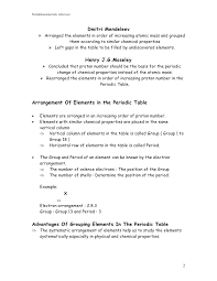 Chapter 4 perodic table