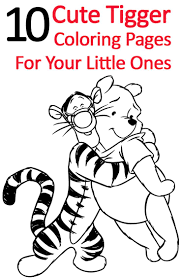 Top 25 Free Printable Tigger Coloring