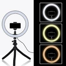 Ring Light Tripod For Iphone Us 16 63 52 Off Tycipy 26cm Selfie Led Ring Light With Mini Tripod Stand Phone Holder For Iphone Xs Max 8 7 6 Plus Smartphone Photography Makeup In