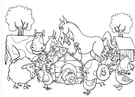 Farm Animals Coloring Pages For Preschool Farm Animals G Pages