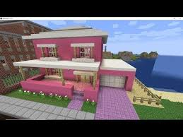 The ideas comes with a full tutorial so it should be easy to follow! Pink Suburban House Minecraft Valentines Day Build Youtube Cute Minecraft Houses Easy Minecraft Houses Amazing Minecraft Houses