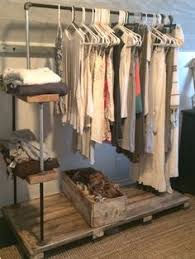 wood and pipe rolling clothes rack more boutique clothing racks m15