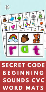 Free, printable three letter words activity sheets for children in kindergarten and first grade. Secret Decoder Mats Fun Cvc Word Activity