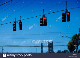 Blue Traffic Light In Florida Traffic Lights In The Tampa Bay Area Florida Us The Smoke