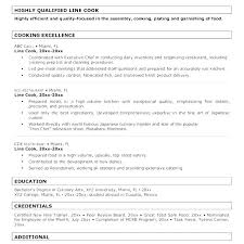 Sample Grill Cook Resume Line Cook Resume Template Cook Resume Example With Sample Grill Cook