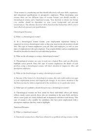 What Is A Chronological Resume Examples Of Chronological Resumes Resume Cv Cover Letter 100 Order 24