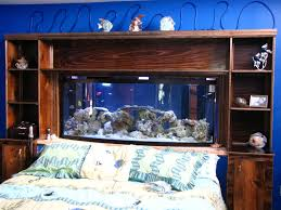 Full Size Of Impressive Fish Tank Bedroom Image Concept Heres Pic Of My  Headboard Reef2reef Saltwater ...