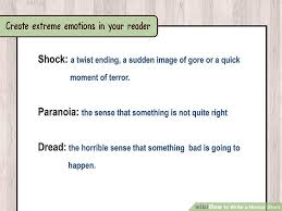 how to write a horror story sample stories wikihow image titled write a horror story step 8