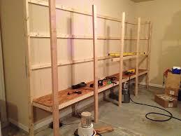 how to build garage shelves