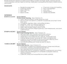 Cleaner Resume Examples Cleaner Sample Resume Sample Cleaner Resume ...