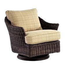 whitecraft by woodard sonoma wicker swivel chair