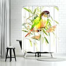 parrot shower curtain cafepress parrot shower curtain parrot shower curtain