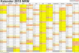Kalender 2015 Excel Kalender 2015 Nrw Ferien Feiertage Excel Vorlagen