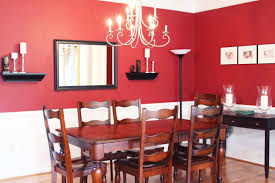 Red Dining Room Chairs Modern Red Dining Room White Candle Wooden Varnished Chairs Red