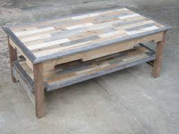 Furniture, Brown Rectangular Rustic Wood DIY Coffee Table Plans With Shelf  Designs Ideas For Living
