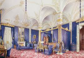 Interior Design Drawing Mesmerizing Interiors Of The Winter Palace By Eduard Hau Watercolor Drawing 48 R