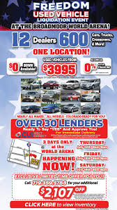 freedom offsite used liquidation event back to top phil long dealerships