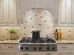 Mosaic Kitchen Backsplash Pleasing Stone Mosaic Subway Tiles With Dark Accent Kitchen Tile