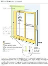 sliding glass door measurements sliding glass door height standard sliding glass door rough opening designs sliding