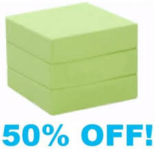 Single Chair Bed Foam Cube - With Lime Cotton Cover