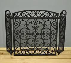 iron fireplace screen. Image Is Loading Black-Cast-Iron-Fireplace-Screen-by-Fallen-Fruits Iron Fireplace Screen