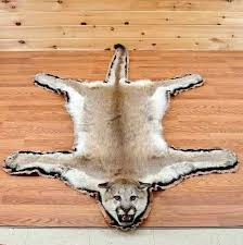 deer hide rug faux