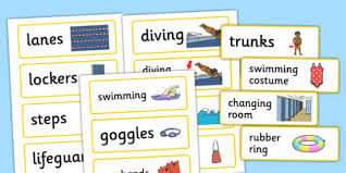Pool Word Swimming Pool Word Cards Swimming Pool Word Cards Cards