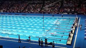 olympic swimming pool 2012. Olympic Swimming Pool Top View Phelps Vs. Lochte (400im Finals) - 2012