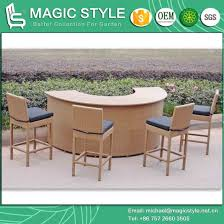 rattan bar set wicker bar stool outdoor bar table patio bar chair magic style