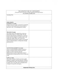 4 Year College Plan Template Teachers College Reading And Writing Project Lesson Plan