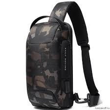 Сумка плечевая Bange BG22085 Чёрный камуфляж купить по ...