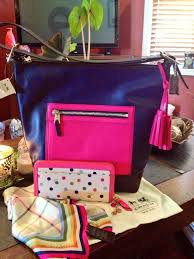 Coach Large Colorblock Duffle with Polka Dot Wallet- sigh..... It s great  to be SPOILED!