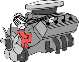 Image result for car engine cartoon