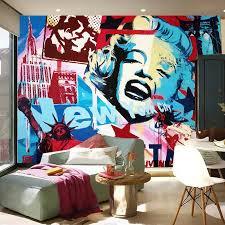 liberty bedroom wall mural: d mural customized graffiti wallpaper america statue of liberty marilyn monroe wall mural d room wall