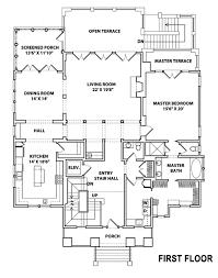 coastal house plans. Seawatch First Floor Coastal House Plans