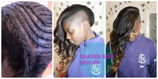 Sew In Hair Style shaved sideside cut sewin by iamellagambia youtube 5855 by wearticles.com