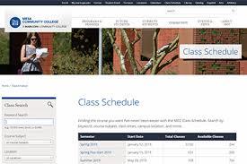 Class Schedule Mesa Community College