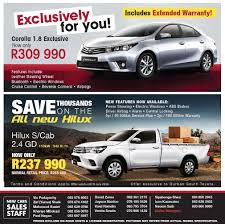 Durban South Toyota Specials & Deals. Specials on Hilux, Fortuner ...