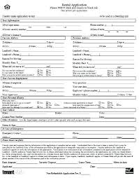 Rent Lease Application Form Rental Application Form Tenant Template Uk Apartment Free