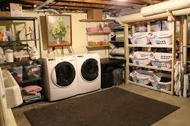 Contemporary Unfinished Basement Laundry Room Makeover Ideas Home Design Intended Inspiration