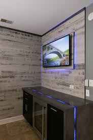picture of waterfall countertop w led river inlay from concrete