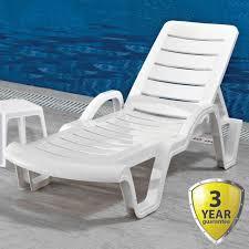 nardi omega sun lounger white blue