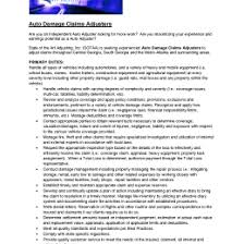 Claims Adjuster Resume Template Best 1003337244201 Claims