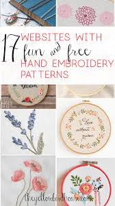 Stitch N Time Embroidery Designs 17 Sites With Fun And Free Hand Embroidery Patterns