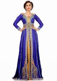 moroccan wedding dress. Royal Blue and Mustard Jacket Moroccan Wedding Caftan Dress