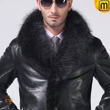 fur trim leather coat mens cw852458 jackets cwmalls com