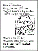Small Picture Nursery Rhymes Coloring Pages and Printable Activities 1