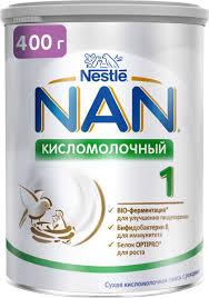<b>NAN</b> 1 <b>смесь кисломолочная</b>, с рождения, 400 г — купить в ...